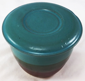Teal and brown French Butter Dish